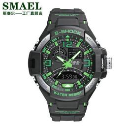 $enCountryForm.capitalKeyWord Australia - Sport Watch Men Army SMAEL Black Watch White S Shock Relogio Masculino Quartz Watches Military 1516 Man Waterproof Sports Watch