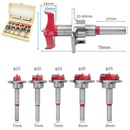 $enCountryForm.capitalKeyWord Australia - Woodworking Positioning Hole Saw Kit Cemented Carbide Drill Bits Set Flat Wing Drill Adjustable Hinge Hole Opener Woodworking Cutter 15-35mm