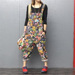 $enCountryForm.capitalKeyWord Australia - Fashion Jeans Women Jumpsuit Denim Romper Overalls Casual Long Trousers Harem Pants Basic Denim Pants Wide Leg Rompers Female Y19060501