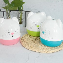hanging clothes boxes UK - 1Pc Roll Paper Storage Container Holder Cute Cartoon Toilet Tissue Box Plastic Round Shape For Home Kitchen Storage Organization