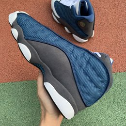 $enCountryForm.capitalKeyWord Australia - Authentic 13s RETRO GIGI Navy Blue Low Top Man Shoe Personality Good Skid Resistance Jogging Sneaker On Sale With Original Box Shipping