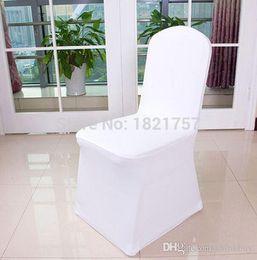 $enCountryForm.capitalKeyWord Australia - Factory price 200pcs Universal Polyester Spandex Wedding Chair Covers for Weddings Banquet Folding Hotel Decoration,white 0914#14