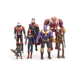 Chinese  7 Style Avengers Endgame Action Figures toys 2019 New Avengers 4 Thanos Iron Man Captain Marvel Hulk Captain America model doll toy C32 manufacturers
