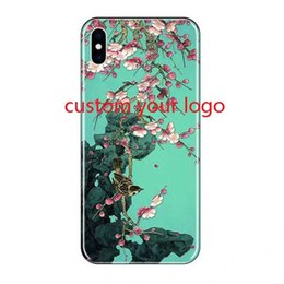 Custom Printed Iphone Cases Australia - Custom logo case Personal Customization Design Printed Case Coque For xr Max XR 6 6s 7 8 DIY LOGO Photo Back Cover