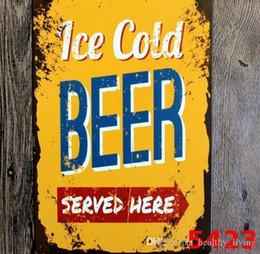 $enCountryForm.capitalKeyWord Australia - Vintage Metal Tin Signs For Wall Decor Mojito Beer Iron Paintings 20*30cm Metal Signs Tin Plate Pub Bar Garage Vintage Home Decoration