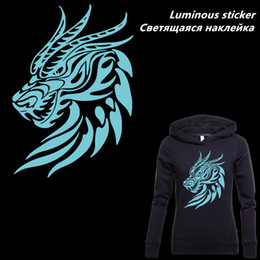 $enCountryForm.capitalKeyWord Australia - New Luminous patches for clothing Europe Dragon Iron-On patches DIY T-shirt clothing patches Thermal transfer sticker