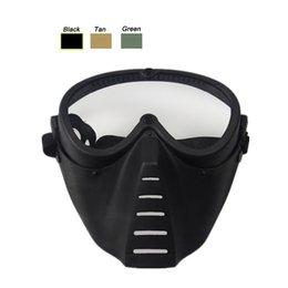 $enCountryForm.capitalKeyWord Australia - Airsoft Paintball Shooting Equipment Face Protection Gear Full Face Bee Style Tactical PC Lens Paintball Mask