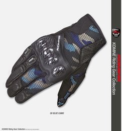Mesh Fiber Australia - Summer mesh carbon fiber Camo GK197 Carbon Protect 3D Mesh Gloves Motocross Dirt Bike Protective Riding Touring Men's Gloves