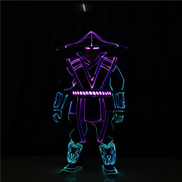 rgb led hat UK - T233 Cosplay party wears full color robot men suit programmable led costumes warrior hats RGB colorful luminous outfits men dj party wears