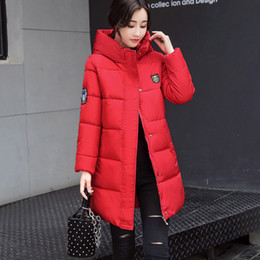 Womens Parkas Australia - Womens Winter Long Jackets Coat Autumn Winter Ladies Cotton-padded Parka Overcoat with Detachable Hat Female Fashion Warm Coats