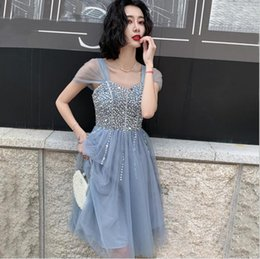 $enCountryForm.capitalKeyWord UK - Hot sell FREE SHIP Vestido Madrinha GREY STONE Long Bridesmaid Dresses Sexy A Line Chiffon Dress for Party Robe Demoiselle D'honneur