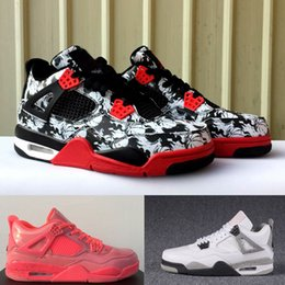 2daa96a6c56 Eminem Hot NZ - 4 NRG TATTOO Hot Punch Eminem White Cement Pure Money Shoes  4s