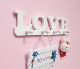 $enCountryForm.capitalKeyWord Australia - 1PC High quality Modern minimalist LOVE   bird wall shelf white wooden Wall hanger racks for coat clothes key home deco JL