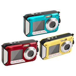 $enCountryForm.capitalKeyWord Australia - 2.7inch TFT Digital Camera Waterproof 24MP MAX 1080P Double Screen 16x Digital Zoom Camcorder HD268 Underwater Camera