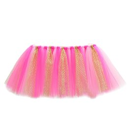 Wholesale Tulle Table Skirt Wedding Decorative High Chair Decor Baby Shower Decoration Birthday Banquet for Boys Girls Party Birthday Gift