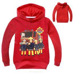 China Kids Sweatshirts Fireman Sam Clothing Costumes Coat Baby Boy T-Shirt Jumper Children Hooded Girl Clothing Print Cartoon Outwear cheap fireman clothes suppliers