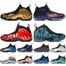 cheap hockey shoes NZ - Cheap New Alternate Galaxy 1.0 2.0 Olympic Penny Hardaway Sequoia Metallic Gold Mens Basketball Shoes foams one men Athletic Shoes designer
