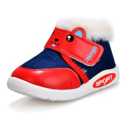 old snow boots NZ - 2019 New Infants Boys and Girls Winter Boots Thick Warm Shoes Fashion Toddler Snow Boots Baby Cotton shoes For 1-3 Years Old Y200404