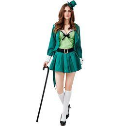 184bc2f33 Women S Fancy Dress Costume UK - St. Patrick's Day Irish Leprechaun Costumes  Cosplay Woman