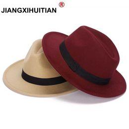 2017 New GD Style Soft Women Vintage Wide Brim Wool Felt Bowler Fedora Hat  Floppy Cloche Women s Panama Sun Hat Trilby D19011102 ab28f1e27cf6