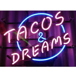 "man cave neon light NZ - 17""x14"" TACOS and Dreams STORE OPEN MAN CAVE BEER BAR PUB WALL DECOR LAMP ADVERTISING NEON LIGHT SIGN"