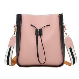 $enCountryForm.capitalKeyWord Australia - Women's Fashion Bucket Bag Color Stitching Shoulder Handbags British Fashion Simple Small Square Canta Commute Messenger Bag YL4