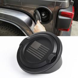 venda por atacado Bandeira americana Fuel Tank Cover preto para Jeep Wrangler JL 2018+ Auto Exterior Acessórios ABS de Metal