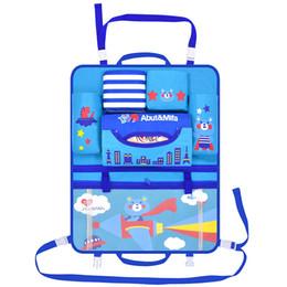 Baby Travel Accessories UK - Cute Car Back Seat Storage Bag Cartoon Auto Backseat Organizer Holder Stowing Tidying Accessories Baby Car Back Seat Travel Bags TTA360