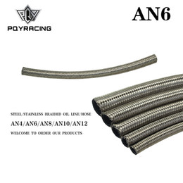 "braided fuel hose Australia - PQY - AN6 6AN AN-6 (8.6MM   11 32"" ID) STAINLESS STEEL BRAIDED FUEL OIL WATER HOSE ONE FEET 0.3M PQY7112-1"