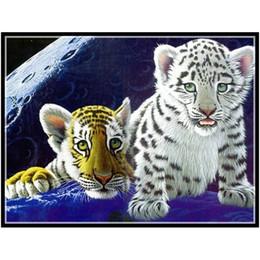 Scroll Wall Sticker Australia - 5d Diy Diamond Painting Cross Stitch Arts And Crafts Animals Tigers Diamond Embroidery Kits Pattern Wall Sticker Gift