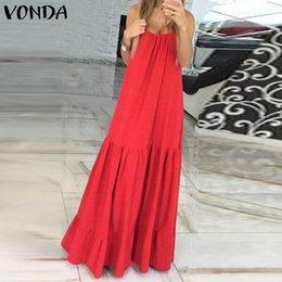 Women's Clothing Romantic Vonda Beach Bohemian Dress 2019 Summer Women Sexy Off The Shoulder Floral Print Maxi Long Dresses Holiday Plus Size Vestidos 5xl
