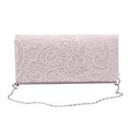 $enCountryForm.capitalKeyWord Australia - Wholesale- Woman Ladies Lace Floral Satin Party Evening Clutch Wedding Bridal Purse Bag Messenger Shoulder Party Girl Handbags