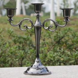 $enCountryForm.capitalKeyWord Australia - 3-Arms Metal Pillar Candle Holders Candlestick Classical Wedding Vintage Decoration Stand Mariage Home Decor Candelabra Free shiping