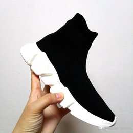 $enCountryForm.capitalKeyWord Australia - Top Brand Top Quality Unisex Casual Shoes Flat Fashion Socks Boots Woman New Slip-on Elastic Cloth Speed Trainer Runner Man Shoes Outdoors