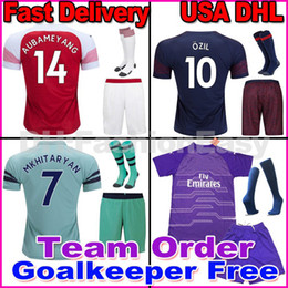 3c90e696dcd 18 19 LACAZETTE AUBAMEYANG soccer jersey MKHITARYAN football shirt kit  Walcott 2018 2019 Camiseta de futbol Ramsey OZIL Goalkeeper kit