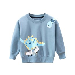 Großhandel Korean Kinderkleidung Herbst und Winter der neuen Kinder Pullover Großhandel Babykleidung Dinosaurier Cartoon Rundkragen Pullover