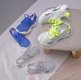 $enCountryForm.capitalKeyWord Australia - Boys sneakers 2019 fall kids colorful mesh knitted casual shoes luminous children breathable running shoes boys basketball shoes F7821