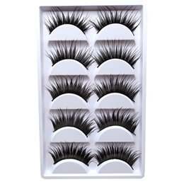 $enCountryForm.capitalKeyWord Australia - 3D Party False Eyelashes Lashes Voluminous Thick Eye Lashes 5 Pair Colorful Makeup