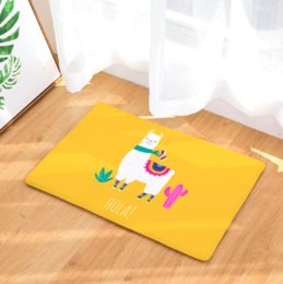 Army Decor Australia - Cartoon Alpaca Doormat Bath Kitchen Carpet Decorative Anti-Slip Mats Room Car Floor Bar Rugs Door Home Decor Gift