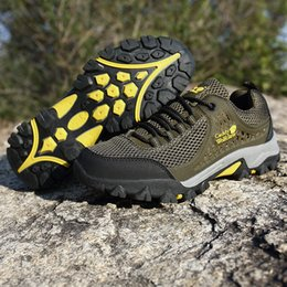 Camp Shoes For Men Australia - 2018 Men Trekking Shoes Rubber Outsole Outdoor Sports Hiking Camping Tactical shoes Boots For Men Non-slip Breathable Shoes Big Size 13 14
