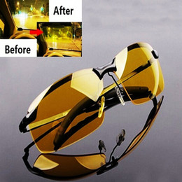 night fishing glasses Australia - Men's Car Driving Fishing Yellow Sunglasses Teal Lens Night Vision Glass New C19022501