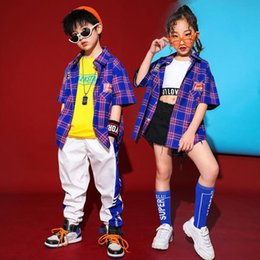 $enCountryForm.capitalKeyWord Australia - Children Tshirt Jogger Pants Modern Jazz Dance Costumes Hip Hop Stage wear dancing Clothing Kids Ballroom Performance Outfits