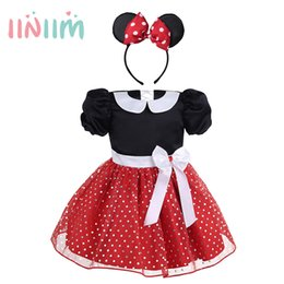 $enCountryForm.capitalKeyWord NZ - Cute Infantil Baby Girls Dresses Polka Dots Halloween Costume Cosplay Party Dress With Hair Hoop Short Sleeves Clothes Sz 9m-4y Y19061801