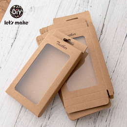 free baby wraps Australia - Let's Make 20pcs Baby Gift Merchandise Packing Box Kraft Paper Wedding Wrapping Jewelry Supply Nursuing Accessories Baby Teether LY191202