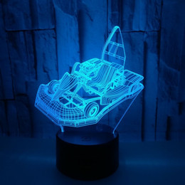 $enCountryForm.capitalKeyWord Australia - Cross-border Electricity Suppliers Go-kart Colorful 3d Desk Lamp Gift Customized 3d Small Night-light Touch Remote Control 3d Lamp