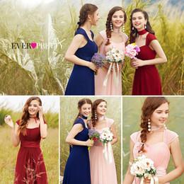 $enCountryForm.capitalKeyWord NZ - Long Simple Bridesmaid Dresses 2019 New Arrival Ever Pretty Ep08834 Long Chiffon Cheap Wedding Party Dresses Bridesmaid Dresses Y19072901
