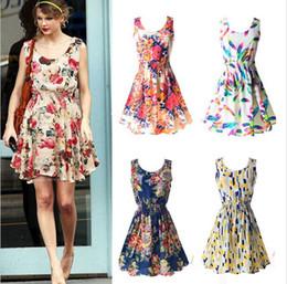 Clothes Cheap Shipping Australia - Newest fashion Women Casual Dress Plus Size Cheap Dress 19 Designs Women Clothing Fashion Sleeveless Summe Dress Free Shipping