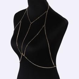 9fc1eb9339894 Slave Bra Chain Body Jewelry Crystal Body Jewelry Women Crystal Party Beach  Bikini Jewelry Body Bra Chain Bralette Chain