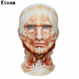 hot woman face mask Australia - Hot Halloween Party Mask Funny Clown Headgear Mask Cosplay Digital Print Novelty Headgear Cotton Men Women Cosplay Face Mask