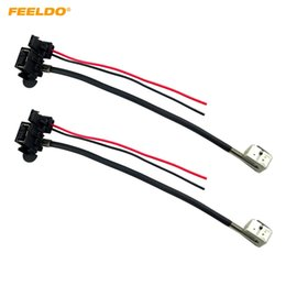 China FEELDO 2PCS Car Power Cord Wire Harness For Hella Factory Original D1S OEM Xenon HID Ballast #1958 suppliers